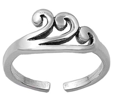 Women's Jewellery Swirl Adjustable Toe Ring 14k White Gold 925 Sterling ... - $9.99