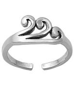 Women's Jewellery Swirl Adjustable Toe Ring 14k White Gold 925 Sterling ... - $9.99