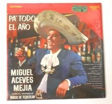 Miguel Aceves Mejia Con El Mariachi Vargas De Tecalitlan LP Record Arcano - $19.01