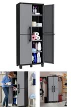 Storage Cabinet Patio Garden Shed Outdoor Garage Tool Box Laundry Organizer - $74.13