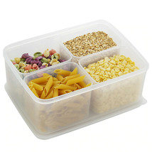 Transparent Plastic Fridge Food Container Set Clear Household Storage Or... - $26.99