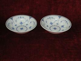 """Franciscan  Denmark Blue set of 2 cereal bowls 6 1/2"""" - $19.75"""