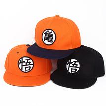 Dragon Ball Baseball Cap Peaked Cap  Wukong Goku Black Orange - $15.99