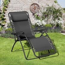 Outdoor Lounge Chair Black Metal Frame Comfort Relaxing Garden Patio Poo... - $118.65