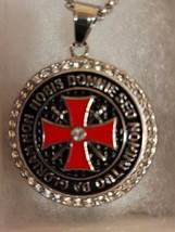 Knights Templar Christian Necklace Medallion  - $24.99
