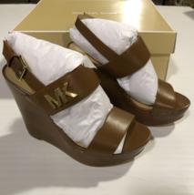 Michael Kors Women's Deanna Wedge Sandals Color Brown Size 5M - $79.97