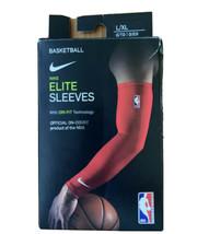 NIKE ELITE NBA BASKETBALL DRI-FIT ARM SLEEVES WARRIORS RED PLAYERS L/XL - $19.99