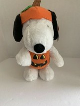 "Peanuts Halloween Snoopy as Pumpkin 13"" Plush Stuffed Toy FLAW see description - $12.95"