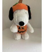 "Peanuts Halloween Snoopy as Pumpkin 13"" Plush Stuffed Toy FLAW see descr... - $12.95"