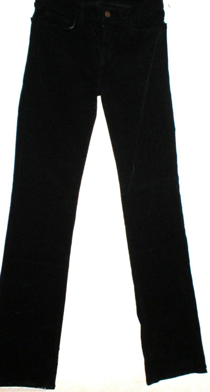 New $248 J Brand Jeans Womens Black Mid Straight Leg Velvet 805 Tall 28 Corduroy