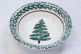 "Furio Xmas Tree Soup Bowls 8.125"" Lot of 4 Made in Italy image 6"