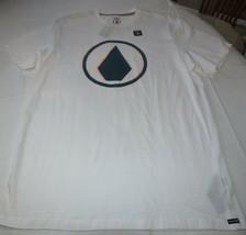 Homme Volcom T-Shirt Manches Courtes Coupe Moderne L Brûlé S/S Blanc A5031700 - $18.70