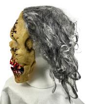 Monster Sangriento Dientes Salvaje Gris Cabello Adulto Máscara de Látex - $31.20