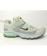 NIKE Air COOS Running Shoes Womens 8.5 White Green Stability Jogging Shoe - $33.72