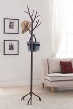 Coat Hat Scarf Rack Solid Modern Design Hall Stand Home Bronze Finish Metal - $66.62