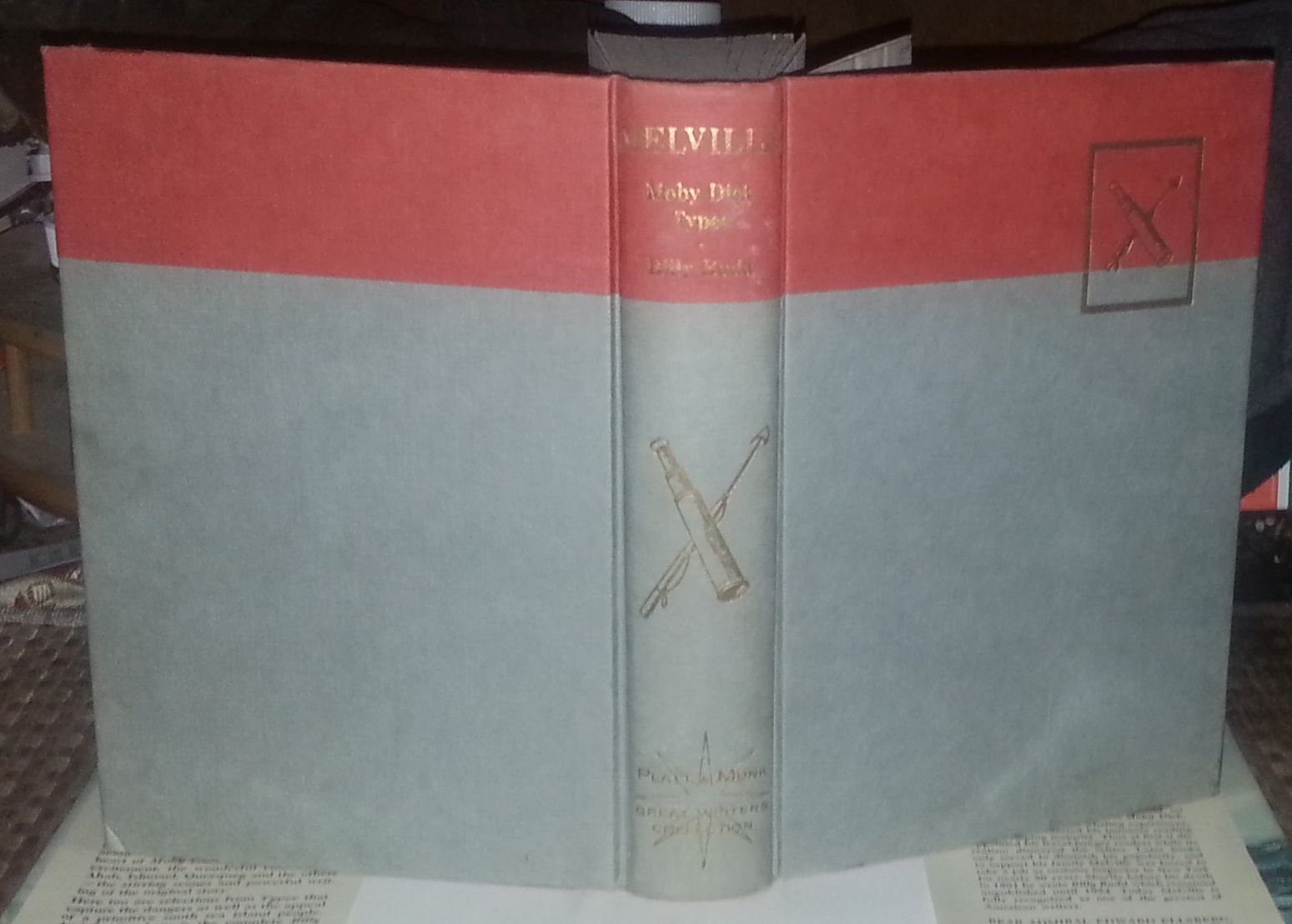 The Best of Moby Dick and Typee also Billy Budd by Herman Melville 1964 HBDJ