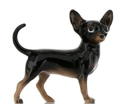 Hagen Renaker Pedigree Dog Chihuahua Large Black and Tan Ceramic Figurine image 7
