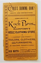 c1880 antique KOCH BROS allentown pa clothing CHILD'S DRAWING BOOK adv U... - $68.95