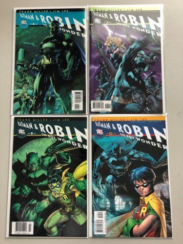 Lot of 8 All Star Batman and Robin the Boy Wonder (2005) 1-4 7 9 10 NM Near Mint