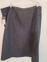 New Merona Women's Plus Size 26W Wool Blend Skirt Charcoal 40% OFF New W... - $10.47