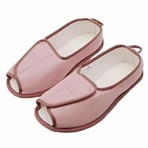 BUYITNOW Womens Extra Extra Wide Slippers with Adjustable Closures Swoll... - $32.28