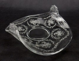Vintage Fostoria Etched Mayflower Muffin Tray,Upturned Side Handles Hard... - $24.45