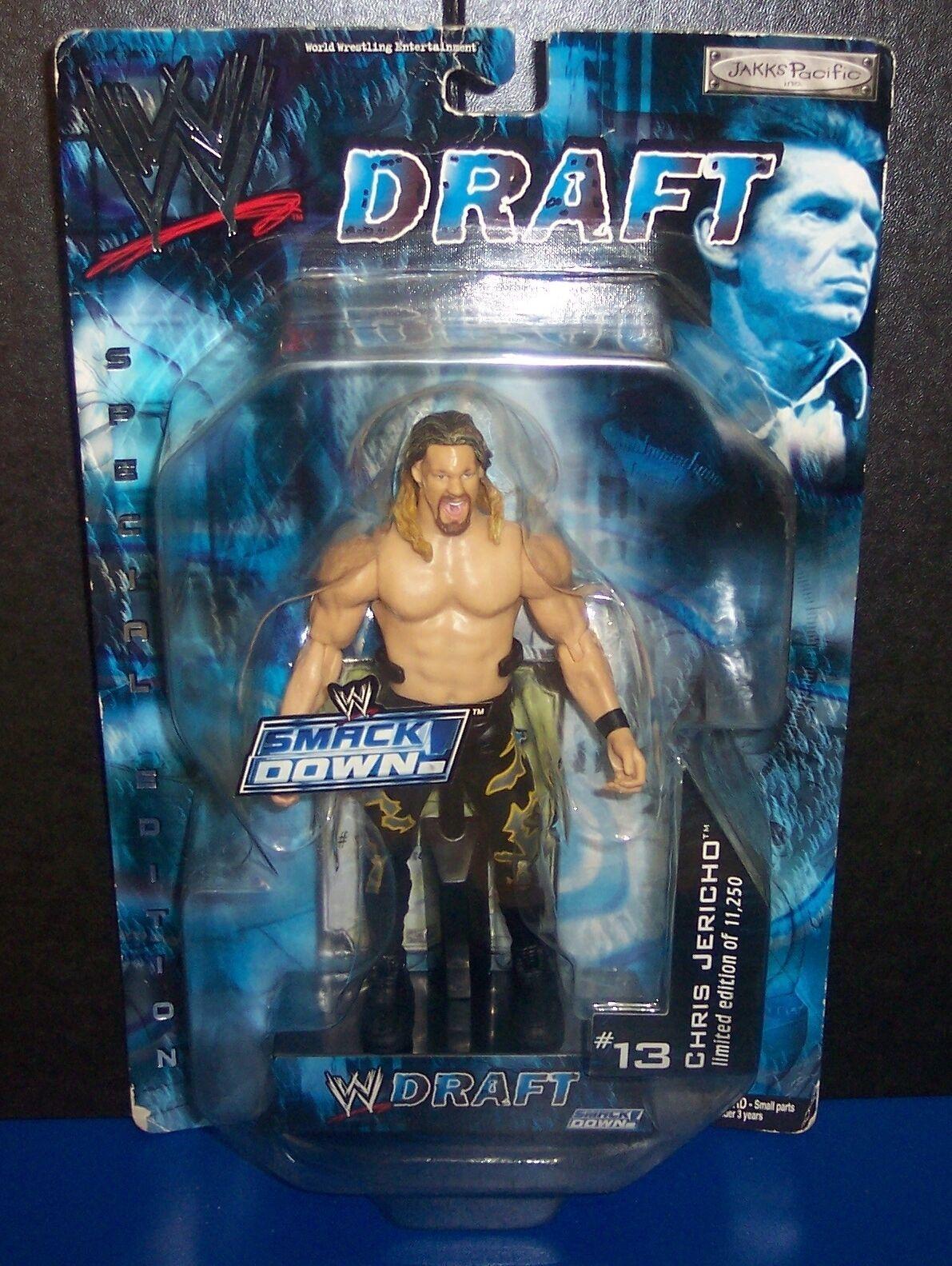 "NEW! 2002 Jakk's WWE SmackDown #13 Draft ""Chris Jericho"" Action Figure {1203}"