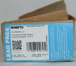 Watts Thermostatic Mixing Valve 0559116 1/2 Inch Domestic Hot Water Systems image 11