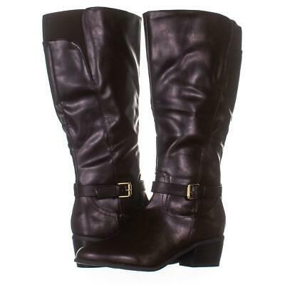 Primary image for KS35 Fayth Wide Calf Knee High Ankle Boots 807, Dark Brown, 9 US