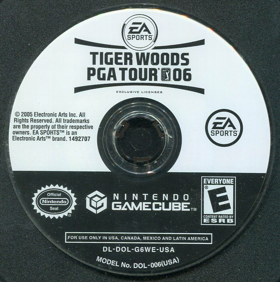 Primary image for Tiger Woods PGA Tour 06 (Nintendo GameCube, 2005) Game Only!