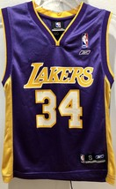 Reebox Shaq Jersey Lakers #34 Shaquille O'Neal Size Small (8) - $100.00