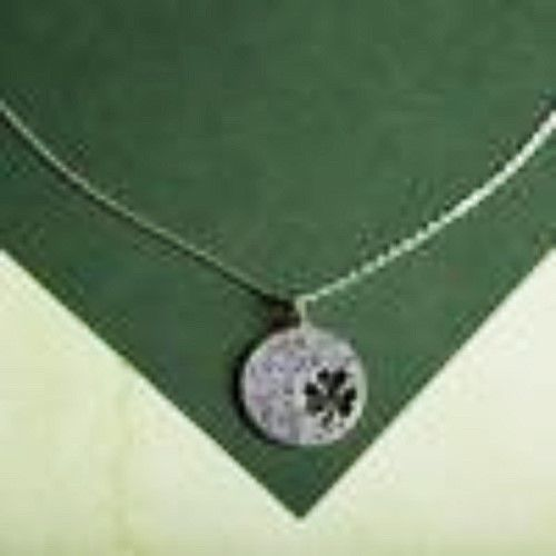 "Primary image for GNI Silver LUCK OF THE IRISH 4-leaf clover cutout on 18"" link chain w/gift card"