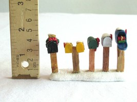 """Lemax Christmas Village Figure Figurine Rural Mail Boxes Country Road 2.2"""" - $9.99"""