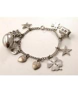 Vintage Beta Sigma Phi Sterling Charm Bracelet & Charms - $164.99