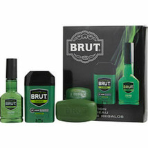 Brut After Shave Cologne Spray 3 Oz and Deodorant Stick 2.25 Oz and Soap... - $30.78
