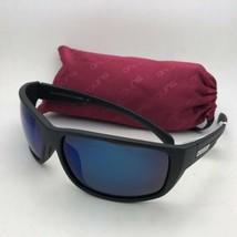 New SUNCLOUD POLARIZED OPTICS Sunglasses MILESTONE Matte Black w/ Blue Mirror