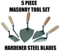 Masonry Brick Trowel, Pointing Trowel, Margin Trowel, Tuck Pointer 5 Pie... - $29.56