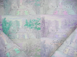 1-1/8Y NICOLETTE MAYER EMERALD PRINTED FRENCH GARDEN LINEN UPHOLSTERY FA... - $31.68
