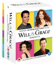 Will and Grace Complete Series 1-8 (1998-2006) DVD *REGION 2 PLEASE READ... - $59.95