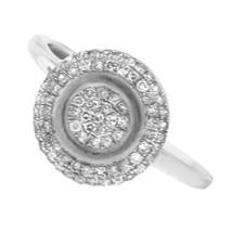 NEW GLK 14K WHITE GOLD 0.33CT PAVÉ DIAMOND RING SIZE 7 - £264.97 GBP