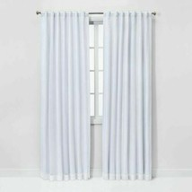 "THRESHOLD Voile Overlay Blackout Curtain Panel White 50""x84"" Open Box - $27.07"