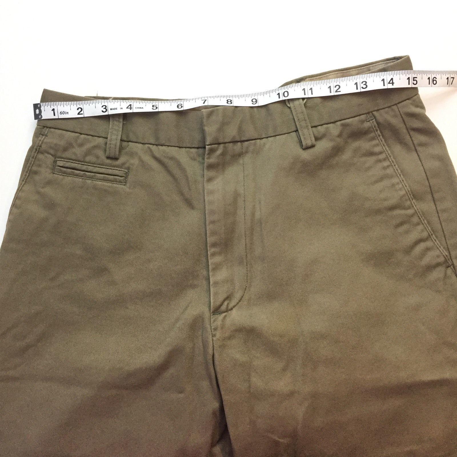 Men/'s New 32 x 34 Navy Blue Chaps Classic Fit Flat Front Khaki Pants