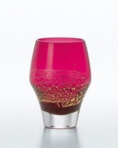 Edo Japanese glass Beea Tea SakeTumbler 330ml Beni Ruri Red lapis lazuli - $129.61