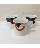 "3 Coffee Mugs Cups High Spirits Mikasa Maxima Japan 3"" tall - $19.34"