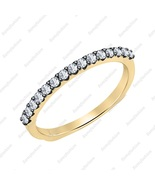 0.45 Ctw Round Shaped Two Tone 14k Yellow Gold Over .925 Engagement Band... - $89.99