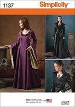 Simplicity Misses' Medieval Fantasy Costumes-6-8-10-12-14 - $13.48