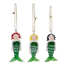 Set of 3 Glass Mermaids Ornament