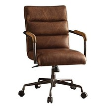 Acme Furniture Harith Top Grain Leather Office Chair In Retro Brown - $691.19