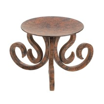 Rustic Scrollwork Candle Stand - $31.25