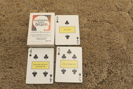 Playing Cards MAINTAIN YOUR BRAIN Alzheimer's Association Tips on each C... - $5.89